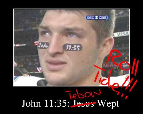 Tebow Wept