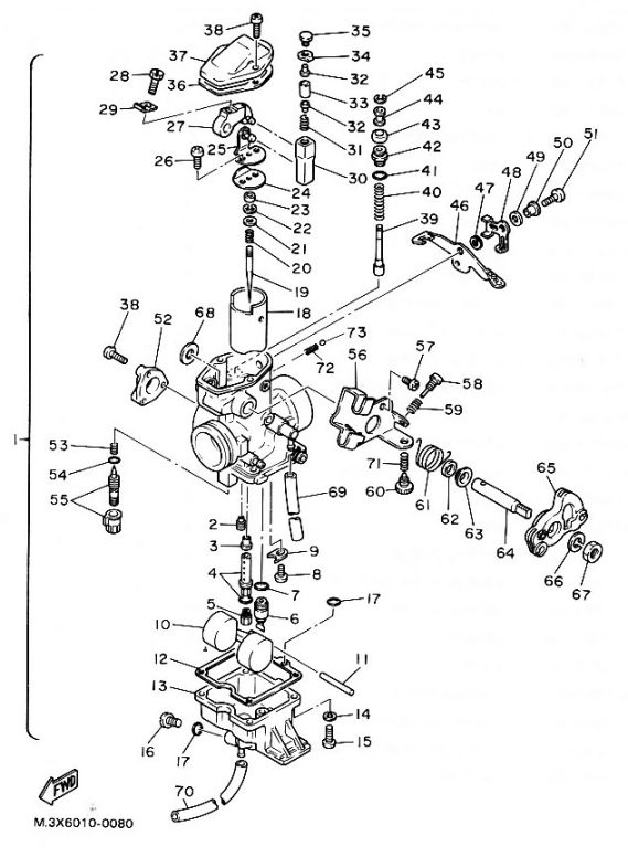 diagram of a btm mikuni carbarater