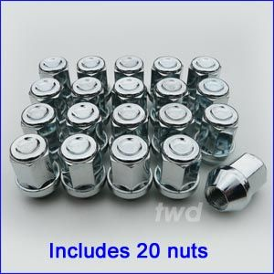Closed end M12 x 1.5 wheel nut