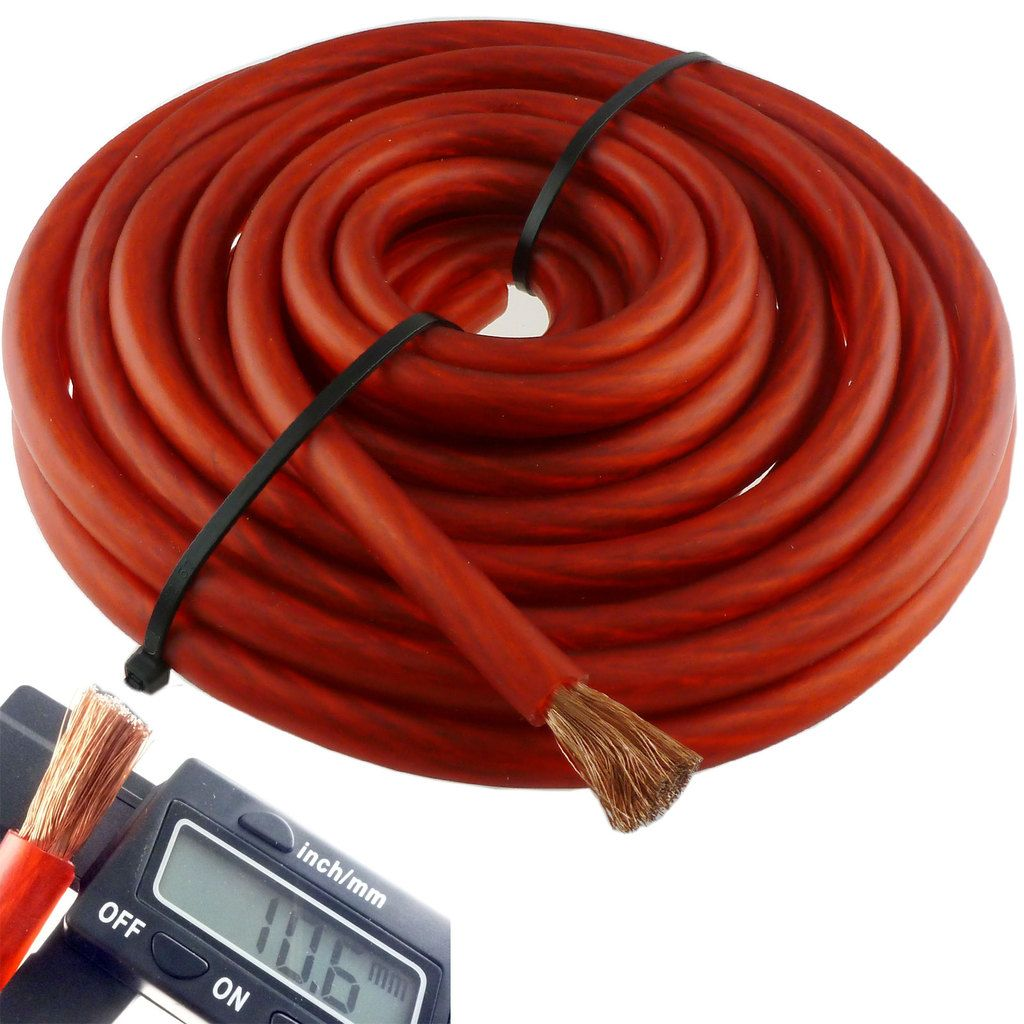15 Ft 4 Gauge Red Car Audio Power Ground Wire Cable Awg